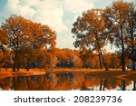 autumn lake | Shutterstock . vector #208239736