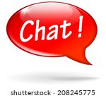 vector illustration of red chat ... | Shutterstock .eps vector #208245775