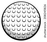 golf ball | Shutterstock .eps vector #208245826