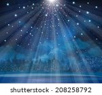 vector winter background with... | Shutterstock .eps vector #208258792