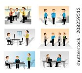 business people set   isolated... | Shutterstock .eps vector #208259512