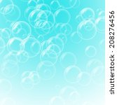 abstract bubble on blue... | Shutterstock . vector #208276456