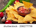 Mexican Nacho Chips And Salsa...