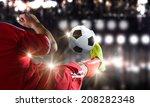 close up image of footballer... | Shutterstock . vector #208282348