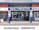 eastbourne  england   july 31 ... | Shutterstock . vector #208304752
