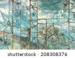 patterns of broken glass tile... | Shutterstock . vector #208308376
