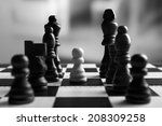 chess board with chess pieces... | Shutterstock . vector #208309258
