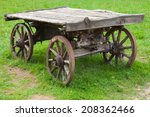 Empty Old Rural Wooden Wagon...