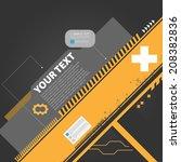 dark modern techno background... | Shutterstock .eps vector #208382836
