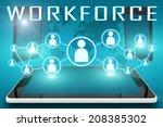 workforce   text illustration... | Shutterstock . vector #208385302