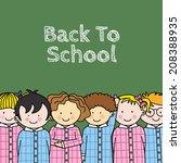 children in school. space for... | Shutterstock .eps vector #208388935