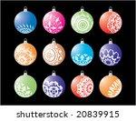 christmas ball set | Shutterstock .eps vector #20839915