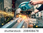 industrial worker using a ... | Shutterstock . vector #208408678