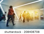 fast moving passengers at... | Shutterstock . vector #208408708