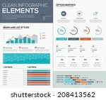 graphs and pie charts for... | Shutterstock .eps vector #208413562
