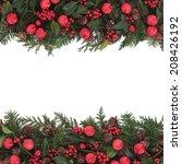 christmas background  border... | Shutterstock . vector #208426192