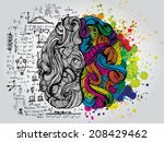 creative concept of the human... | Shutterstock .eps vector #208429462