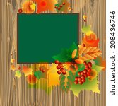 autumn background of leaves and ... | Shutterstock .eps vector #208436746