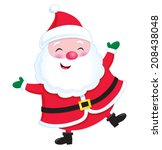 jolly santa claus   Shutterstock .eps vector #208438048
