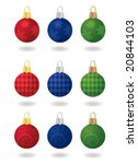 nine patterned  sateen... | Shutterstock .eps vector #20844103