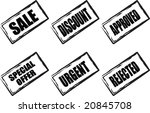 a collection of 6 stamps in...   Shutterstock . vector #20845708