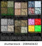 Seamless Vector Digital Pixel...