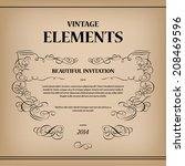 vintage elements for text... | Shutterstock .eps vector #208469596
