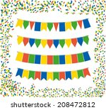 Triangle Bunting Flags Color...