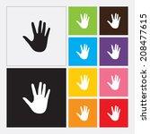 hand icon   vector | Shutterstock .eps vector #208477615