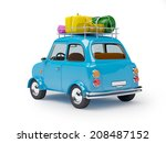 small and cute blue retro trip... | Shutterstock . vector #208487152