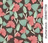 floral seamless pattern  | Shutterstock .eps vector #208487758