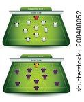 soccer team formation | Shutterstock .eps vector #208488052