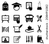 back to school  learning and...   Shutterstock .eps vector #208491082