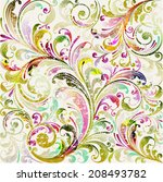 floral seamless vector... | Shutterstock .eps vector #208493782