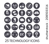 technology icons set | Shutterstock .eps vector #208503316
