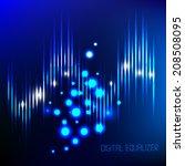 digital equalizer. vector... | Shutterstock .eps vector #208508095