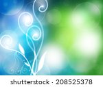 cheerful natural colorful... | Shutterstock . vector #208525378