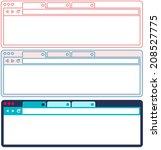 vector flat browser design. set ...
