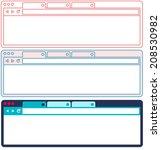 flat browser design. set of...