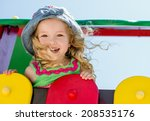 happy child having fun on the... | Shutterstock . vector #208535176