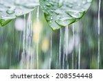 Rainy day background - stock photo