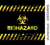 grunge biohazard illustration   ... | Shutterstock .eps vector #208564846