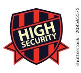 navy and red high security... | Shutterstock . vector #208565572