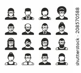 people icons | Shutterstock .eps vector #208570588