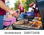 tailgating  bratwurst cooking... | Shutterstock . vector #208572658