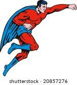 superhero flying up | Shutterstock . vector #20857276