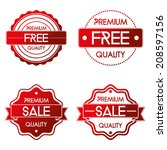 vector set of different labels... | Shutterstock .eps vector #208597156