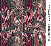 eclectic fabric pattern. ethnic ... | Shutterstock .eps vector #208599172
