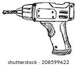 sketch  doodle  hand drawn... | Shutterstock .eps vector #208599622