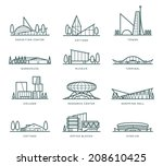 contour stylized modern flat... | Shutterstock .eps vector #208610425